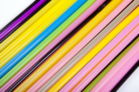 background with bright color made from many straws