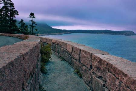 mountain ocean path near the Atlantic on a cloudy day Stock Photo - 17365392