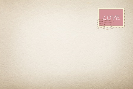 love stamp in a letter white background photo