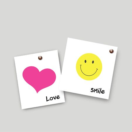 Post it smile and love Vector