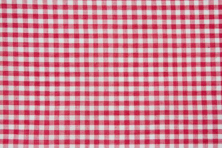 photo shot of checkered tablecloth Stock Photo