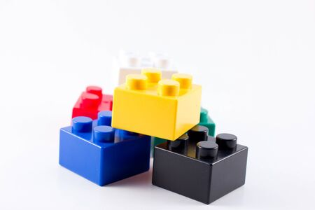 colorful toy cubes photo