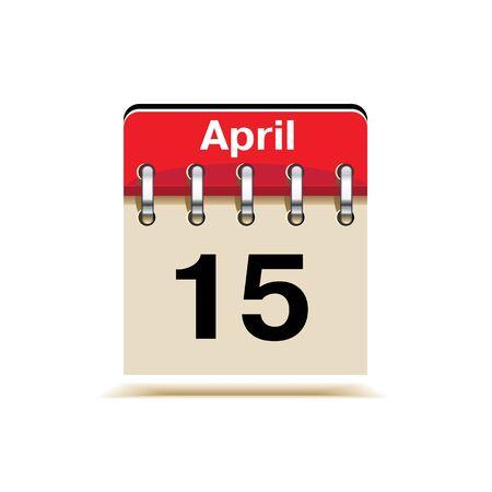 15 April Tax Day Reminder Stock Vector - 17936643