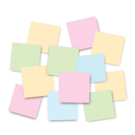 bright post-it notes on Isolated background Stock Vector - 17936646