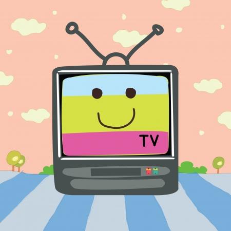 a vector illustation of  tv cartoon Illustration