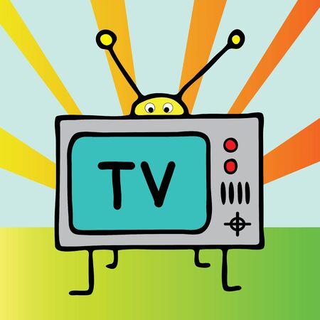 illustation: a vector illustation of  tv cartoon Illustration