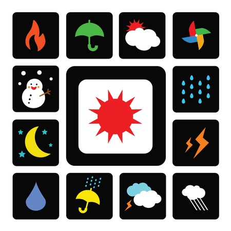 vector icons for weather related projects Stock Vector - 18058593
