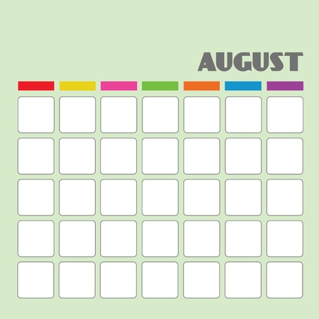 Blank calendar for your use  Stock Vector - 18058587