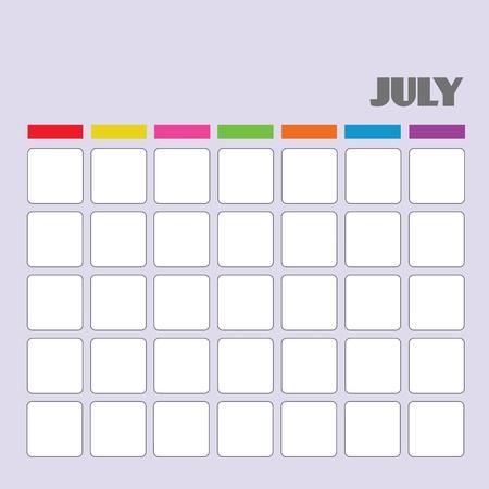 Blank calendar for your use Stock Vector - 18058579