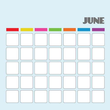 Blank calendar for your use  Stock Vector - 18058574