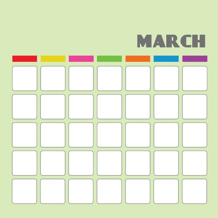 Blank calendar for your use  Stock Vector - 18058576