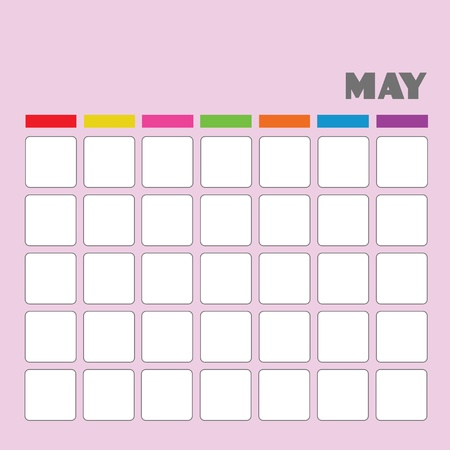Blank calendar for your use Stock Vector - 18058575