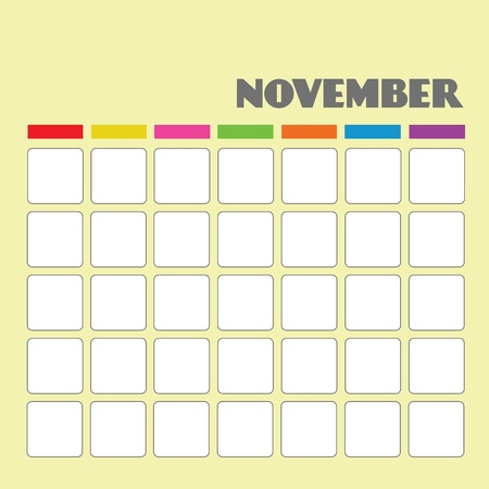 Blank calendar for your use  Vector