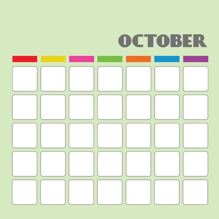 Blank calendar for your use  Stock Vector - 18058607