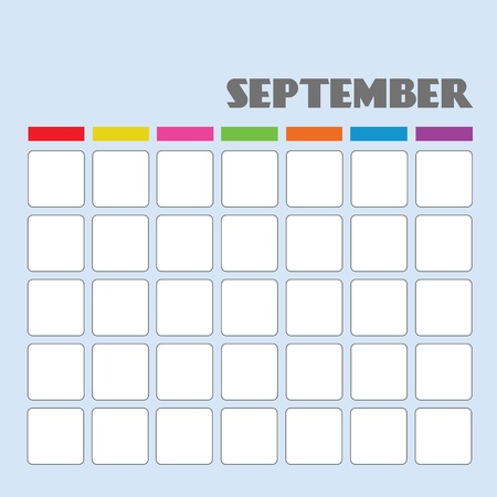 Blank calendar for your use Stock Vector - 18058590