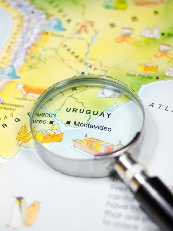 Map of Uruguay in Close up