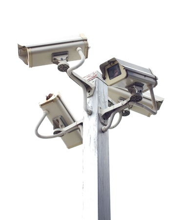 under surveillance: Four outside security cameras cover multiple angles