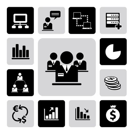 Business icons set from Illustration Vector