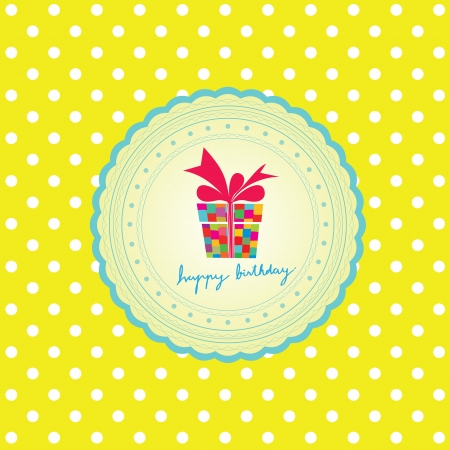 card for happy birthday to you Vector