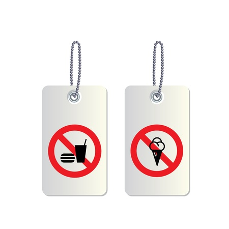 No fast food and no sweets sign Vector