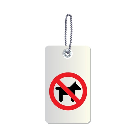 no dogs or pets label Stock Vector - 19197658