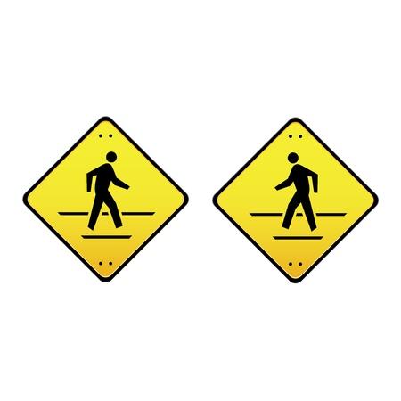 zebra crossing: Reg�strate lado de la calle a la izquierda y derecha Vectores