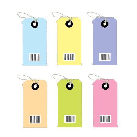 Barcodes isolated on white background Stock Vector - 19197754