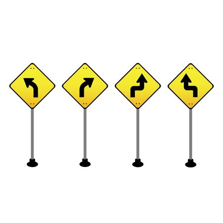 traffic sign on white background Vector