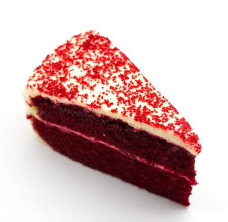 rebanada de pastel: Red Velvet Cake de Chocolate Foto de archivo