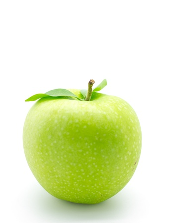 Green apple with water drops  Healthy fruit with vitamins