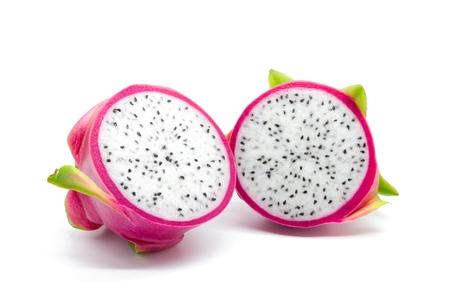Dragon fruit op een witte achtergrond Stockfoto