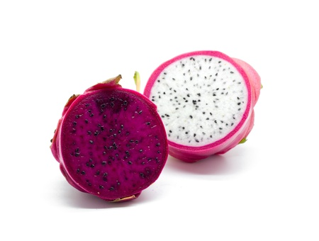 Dragon fruit on a white background photo