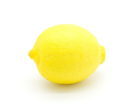 Ripe lemon on a white background photo