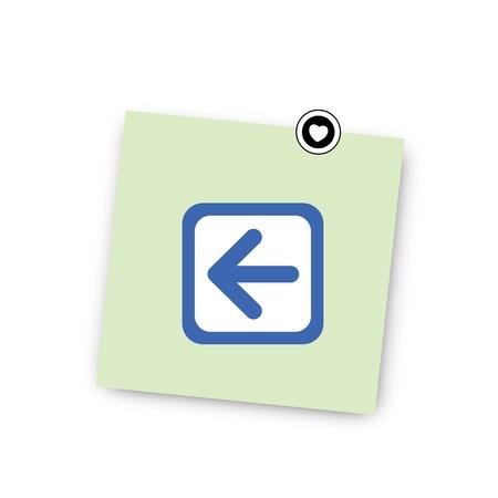 net bar: post it paper set for use Illustration