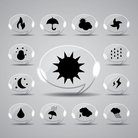 hailstorm: icon web set for use Illustration