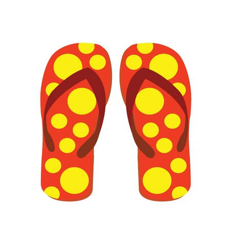 sandals single on white background