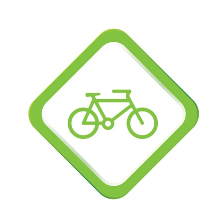 bicycling: icon web set for use Illustration