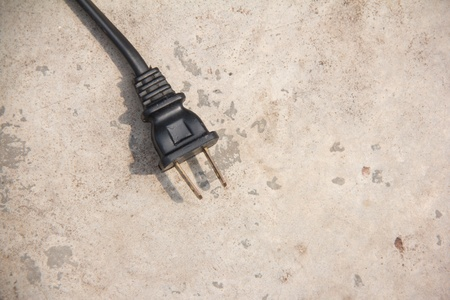 Black electrical plug and electrical cord