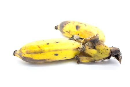 platano maduro: pl�tano maduro en el fondo blanco Foto de archivo