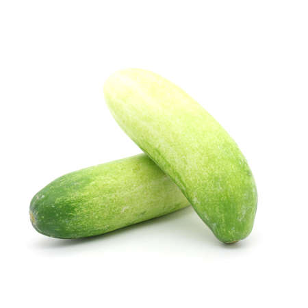 fresh cucumber on  white background photo