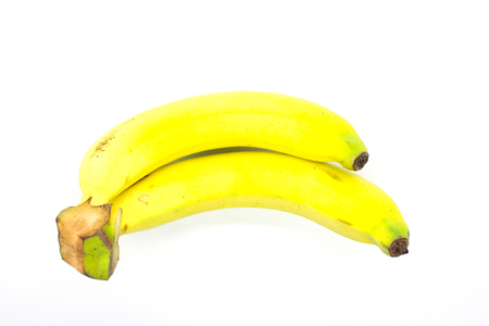 banana isolated on white background photo