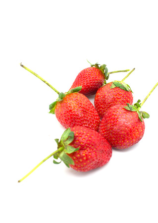fresh red strawberry from farm photo