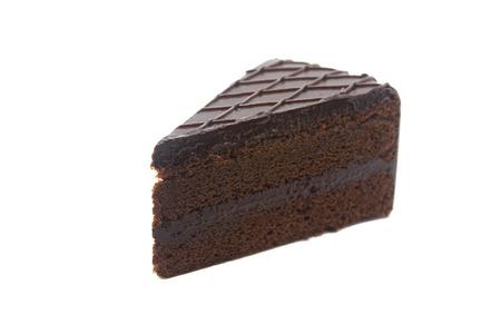 Chocolate Cake isolated , on white background photo