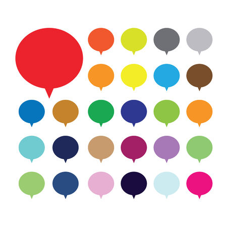 Empty buttons in popular soft colors. Newest flat simple modern minimal metro style. Stock Vector - 30274750