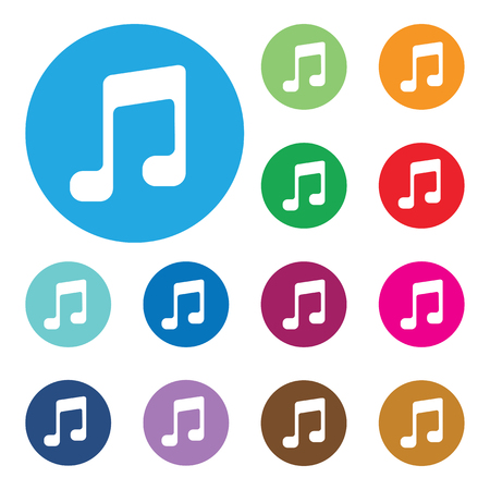 Music note sign icon.Musical symbol. Vector