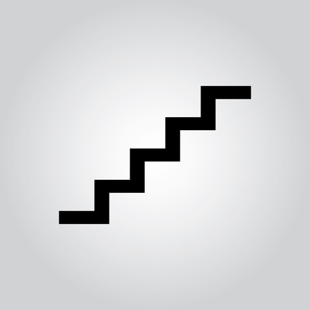 staircase symbol on gay background for used. Vector