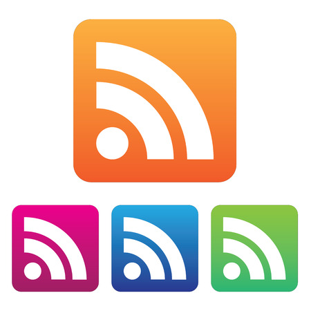 rss feed icon: Rss flat icon. Vector illustration.