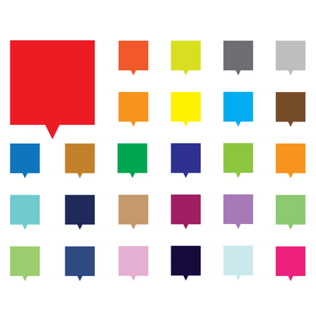 Empty buttons in popular soft colors. Newest flat simple modern minimal metro style. Vector