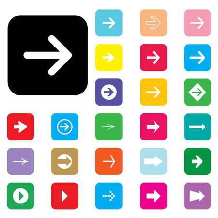 designator: iconos cuadrados redondeados con flechas para utilizarse.