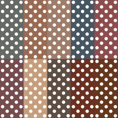 pattern pois: Seamless retr� ispirato giovanile motivo a pois in colori caramella